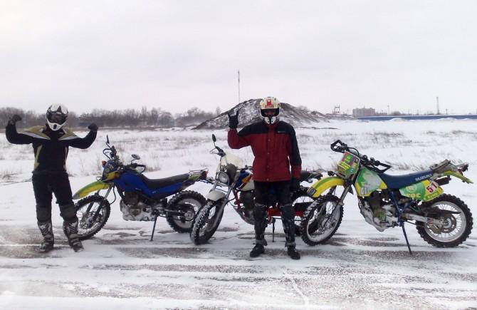 Зимняя езда на мотоциклах
