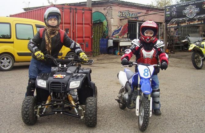 Обучение детей от 7-ми лет езде на мотоцикле. Детская мотошкола в Одессе.